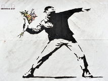 Arte de la calle de Banksy Imagen de archivo