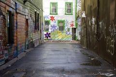 Arte de la calle de la pintada Fotografía de archivo