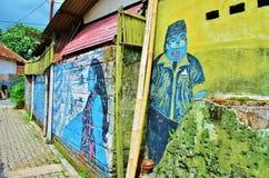 Arte de la calle de Malioboro Imagen de archivo libre de regalías