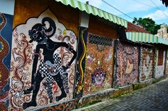 Arte de la calle de Malioboro Imágenes de archivo libres de regalías