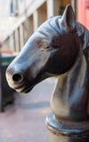 Arte de la calle de New Orleans del barrio francés: Cabeza de caballo Imágenes de archivo libres de regalías