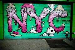 Arte de la calle de New York City Imagenes de archivo