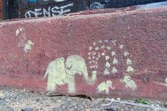 Arte de la calle de un artista desconocido de la calle de Brunswick, Fitzroy Imagen de archivo libre de regalías