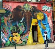 Arte de la calle del elefante Fotografía de archivo libre de regalías