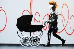 Arte de la calle del punk rock fotografía de archivo libre de regalías