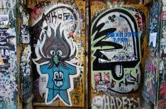 Arte de la calle en Barcelona Imagenes de archivo