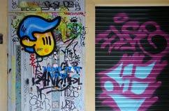 Arte de la calle en Barcelona Foto de archivo libre de regalías