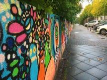 Arte de la calle en Berlín, Berlín, Alemania, Europa Fotos de archivo