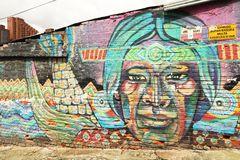 Arte de la calle en Bogotá, Colombia Imagenes de archivo