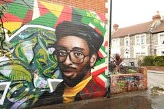 Arte de la calle en Bristol, Reino Unido Imágenes de archivo libres de regalías