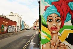 Arte de la calle en Bristol, Reino Unido Imagen de archivo