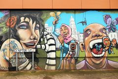 Arte de la calle en Bristol, Reino Unido Imagen de archivo libre de regalías