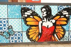 Arte de la calle en Bristol, Reino Unido Foto de archivo libre de regalías