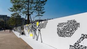 Arte de la calle en el DES Halles - París de Quartier Imagen de archivo