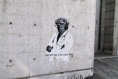 Arte de la calle en el nuevo edificio Foto de archivo libre de regalías