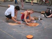 Arte de la calle en Florencia foto de archivo libre de regalías