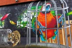 Arte de la calle en Glasgow, Reino Unido Fotos de archivo libres de regalías