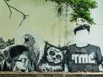 Arte de la calle en las paredes Fotos de archivo libres de regalías