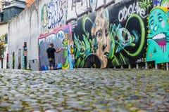 Arte de la calle en Lisboa Portugal imágenes de archivo libres de regalías