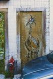 Arte de la calle en Lisboa Portugal imagenes de archivo