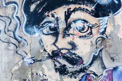 Arte de la calle en Livorno, Italia Fotografía de archivo