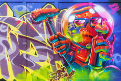 Arte de la calle en Londres, Reino Unido Foto de archivo libre de regalías