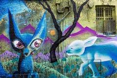 Arte de la calle en Londres, Reino Unido Imágenes de archivo libres de regalías