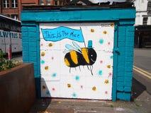Arte de la calle en Manchester Imagen de archivo libre de regalías