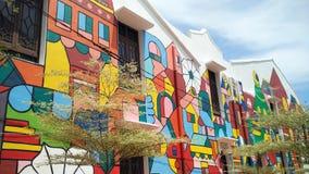 Arte de la calle en Melaka Foto de archivo libre de regalías