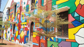 Arte de la calle en Melaka Imagenes de archivo
