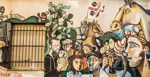 Arte de la calle en Orgosolo Imagen de archivo
