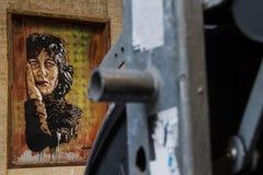Arte de la calle en Roma Imágenes de archivo libres de regalías