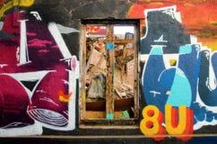 Arte de la calle en ValparaÃso Foto de archivo libre de regalías