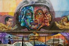 Arte de la calle en ValparaÃso fotos de archivo