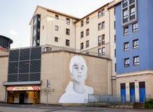 Arte de la calle/pintada Edimburgo Escocia Reino Unido Foto de archivo