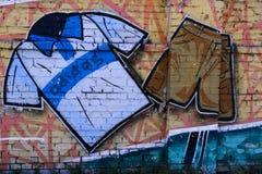 Arte de la calle un traje del deporte imagen de archivo libre de regalías