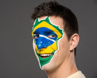 Arte de la cara indicadores Imagen de archivo