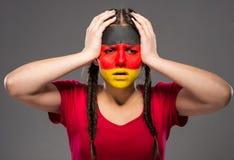 Arte de la cara indicadores Foto de archivo libre de regalías
