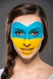 Arte de la cara indicadores Fotografía de archivo