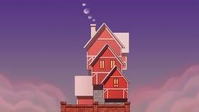 Arte de la casa del pueblo Ejemplo del arte ilustración del vector