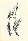 Arte de la línea arte - abstracción Imagenes de archivo