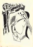 Arte de la línea arte - gitano Fotos de archivo libres de regalías
