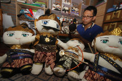 Arte de la marioneta de Wayang Fotos de archivo libres de regalías