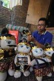 Arte de la marioneta de Wayang Imágenes de archivo libres de regalías