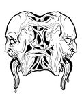 Arte de la obscuridad del vector. ilustración del vector