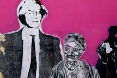 Arte de la pared de Andy Warhol fotografía de archivo