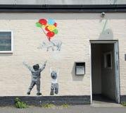 Arte de la pared de Catman Fotos de archivo libres de regalías