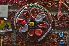 Arte de la pared de la goma Imagen de archivo