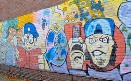 Arte de la pared de ladrillo de la pintada en Alemania Fotografía de archivo