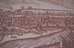Arte de la pared en el museo del Kremlin Fotos de archivo